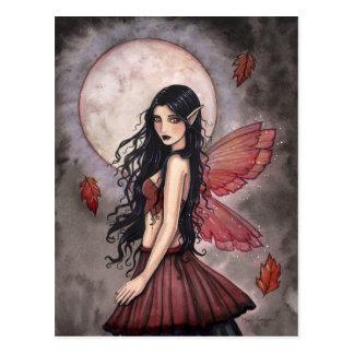 Touch of Autumn Fairy Postcard