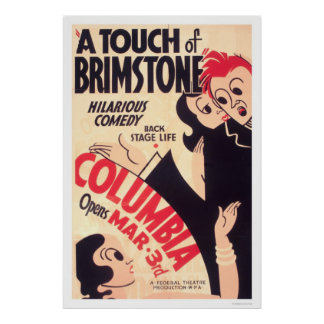 Touch Of Brimstone Comedy 1936 WPA Poster