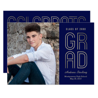 Touch of Class EDITABLE COLOR Graduation Card