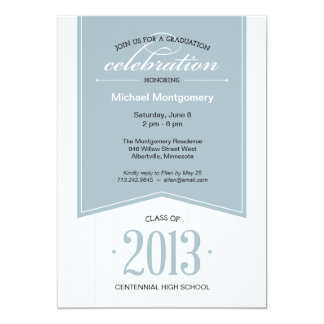 Touch of Class Graduation Party Invitation