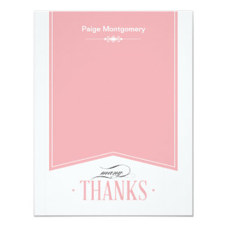Touch of Class Graduation Thank You Note Card