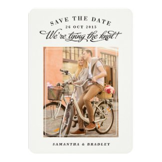 """Touch of Class photo save the date card 5"""" X 7"""" Invitation Card"""