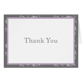 Touch of Class Purple Thank You Note Greeting Card