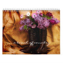 Touch of Country Calendar-Flowers in boots Calendar