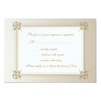 Touch of Gold 3.5x5 Paper Invitation Card