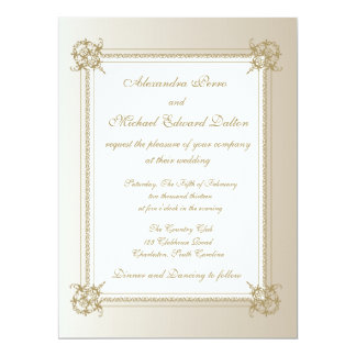 Touch of Gold 6.5x8.75 Paper Invitation Card
