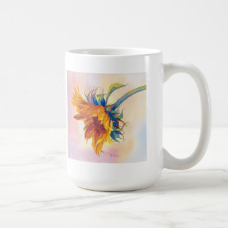 Touch of Gold Sunflower Classic White Coffee Mug