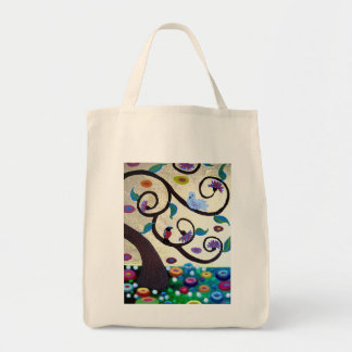 Touch of Klimt Grocery Tote Bag