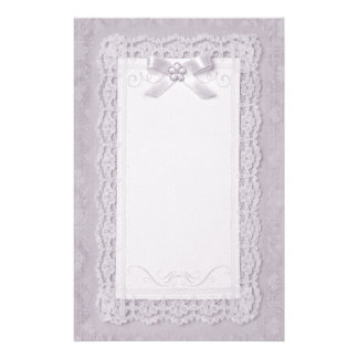 Touch of Lace - Lavender Stationery