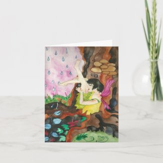 Touch of Rain Fairy Greeting Card