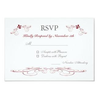 Touch of Red Fleur de Lis RSVP Cards