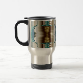 Touch of Teal Abstract Travel Mug