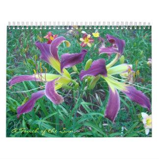 Touch of the Sun Daylilies II Wall Calendar