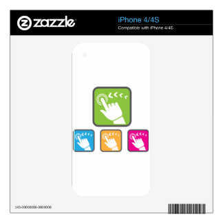 Touch Screen icon iPhone 4 Skin