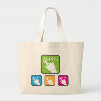 Touch Screen icon Large Tote Bag