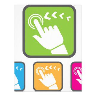 Touch Screen icon Letterhead