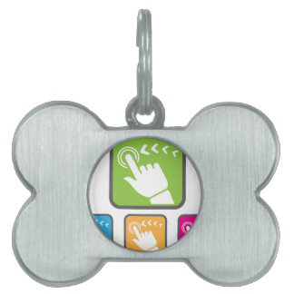 Touch Screen icon Pet Name Tag