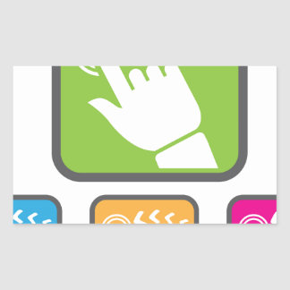 Touch Screen icon Rectangular Sticker