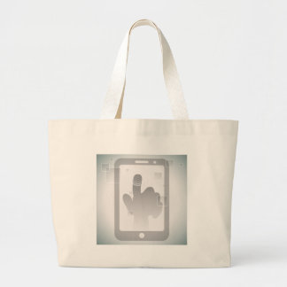 Touch Screen Technology Large Tote Bag