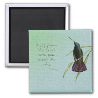 Touch the Sky Hummingbird 2 Inch Square Magnet