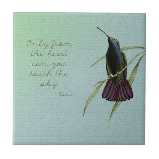 Touch the Sky Hummingbird Ceramic Tile