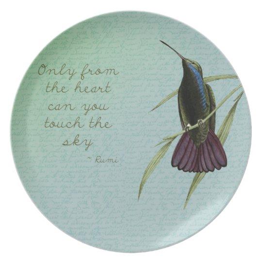 Touch the Sky Hummingbird Dinner Plate
