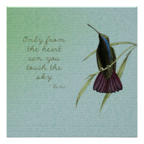 Touch the Sky Hummingbird Poster