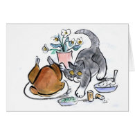Touch the Turkey - scat cat Cards