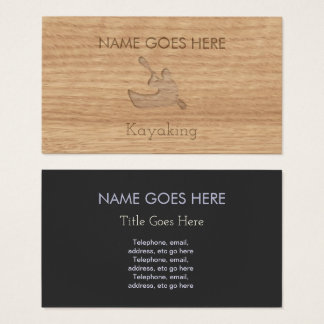 """Touch Wood"" Kayaking Business Cards"