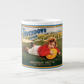 Touchdown Brand Vintage Crate Label Giant Coffee Mug
