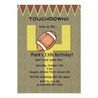 "Touchdown Football Invitation 5"" X 7"" Invitation Card"