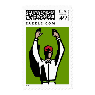 Touchdown Football Party Birthday Stamp