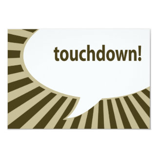 touchdown! (football / superbowl party) card