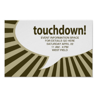 touchdown! (football / superbowl party) poster