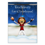 Touchdown For Christmas - American Football Greeting Cards