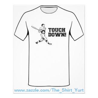 """Touchdown Homerun Baseball Football Sports 4.5"""" X 5.6"""" Flyer"""