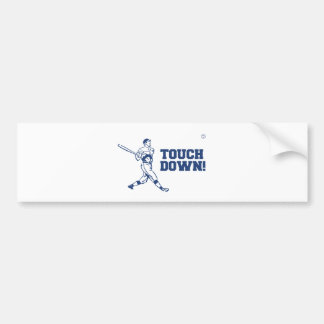 Touchdown Homerun Baseball Football Sports Bumper Sticker