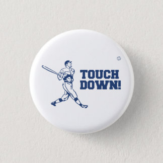 Touchdown Homerun Baseball Football Sports Pinback Button