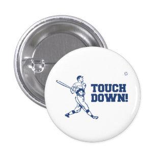 Touchdown Homerun Baseball Football Sports Pinback Button