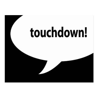 touchdown! postcard