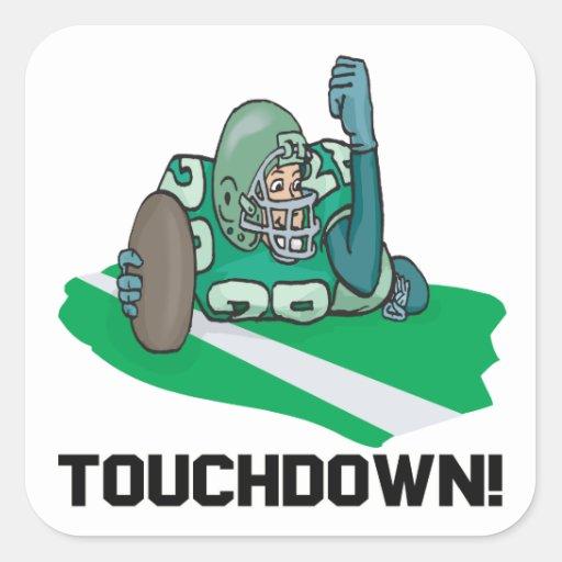Touchdown Square Sticker
