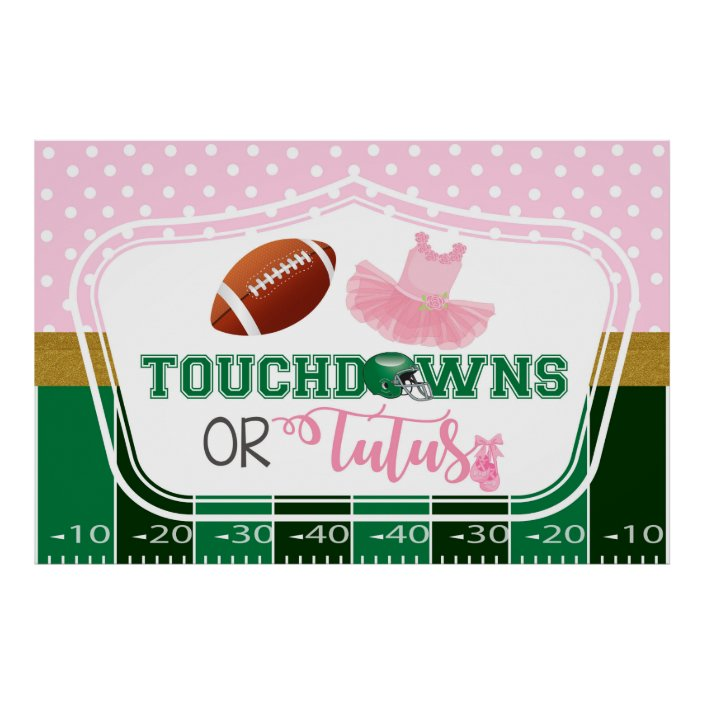touchdowns or tutus banner