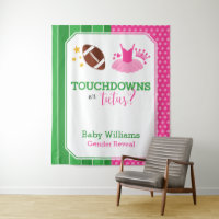 Touchdowns or Tutus Gender Reveal Party Backdrop