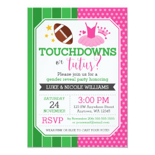 gender reveal invitations zazzle