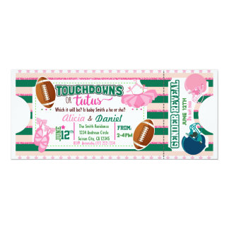 Touchdowns or Tutus Invitation