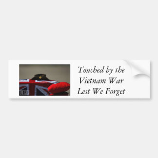 Touched by the Vietnam War, Lest We Forget Car Bumper Sticker