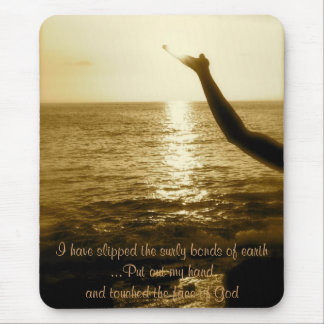 Touched the Face of God Mouse Pad