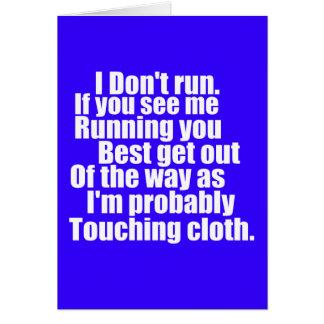 Touching Cloth Card