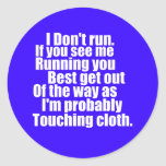 Touching Cloth Sticker