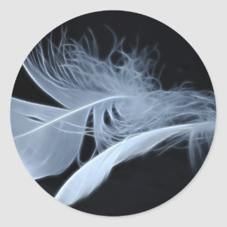 Touching feathers classic round sticker